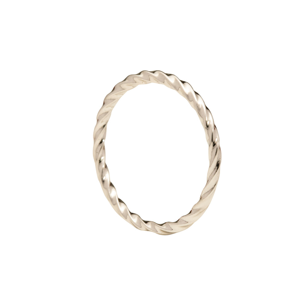 Helical ring silver tone