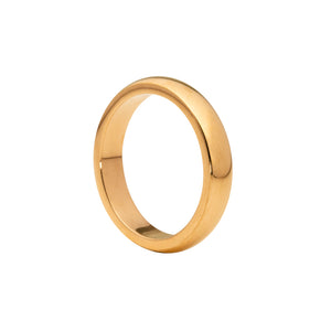 Wide band ring rose gold tone