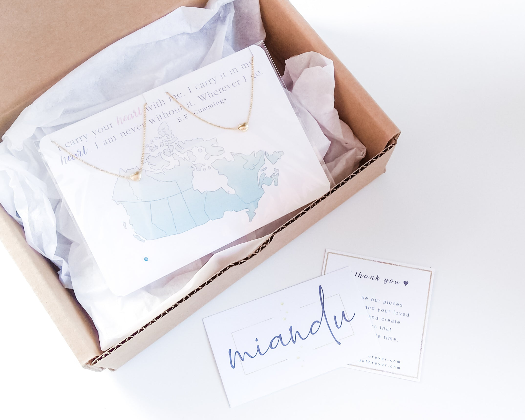 Miandu Shipping Policies Box with Jewelry