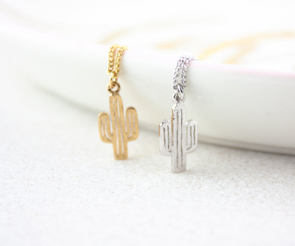 Cactus Necklace - Gold or Silver