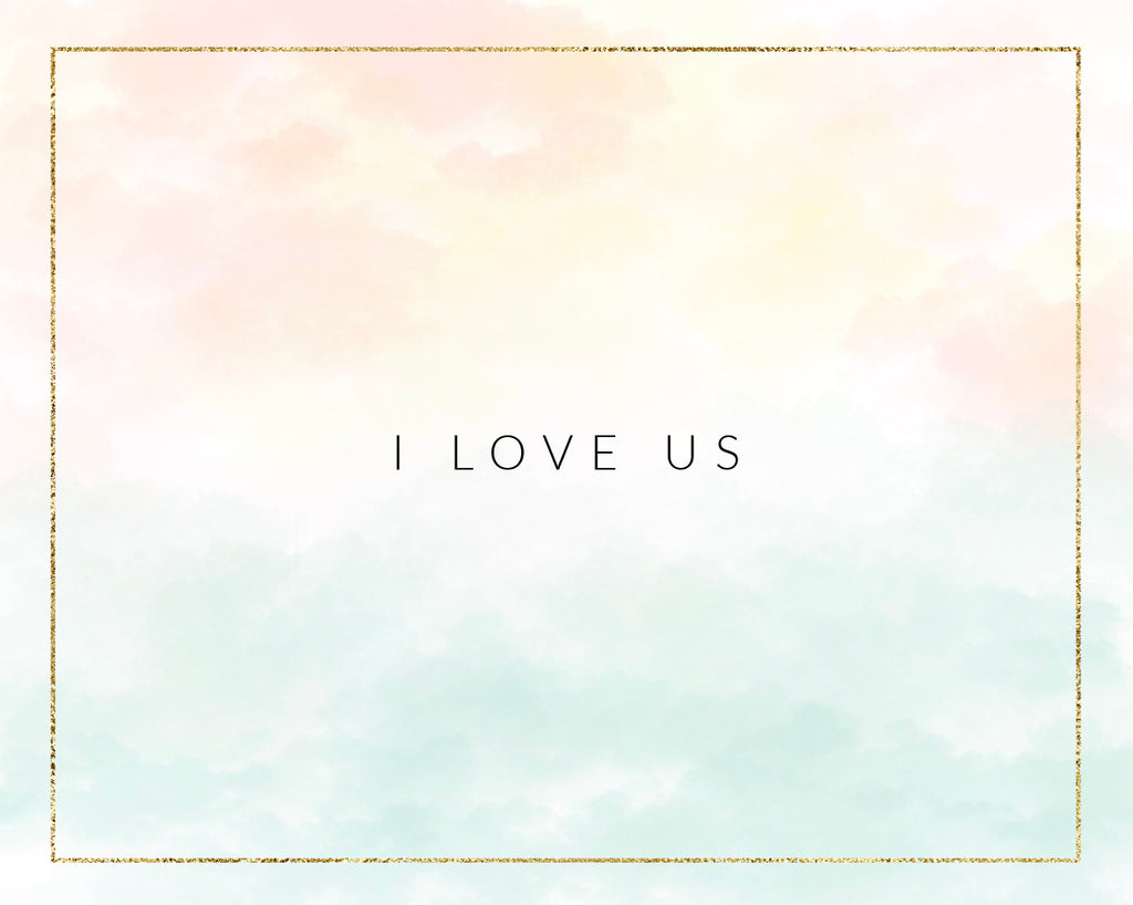 "Gift Card - ""I love us"""