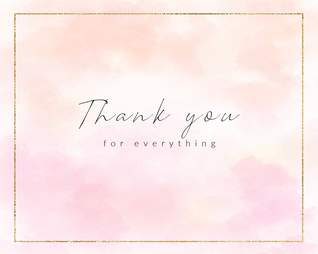 "Gift Card - ""THANK YOU - for everything"""