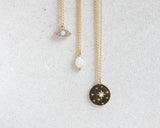 "Sun and Stars Opal Necklace ""Follow your path"""