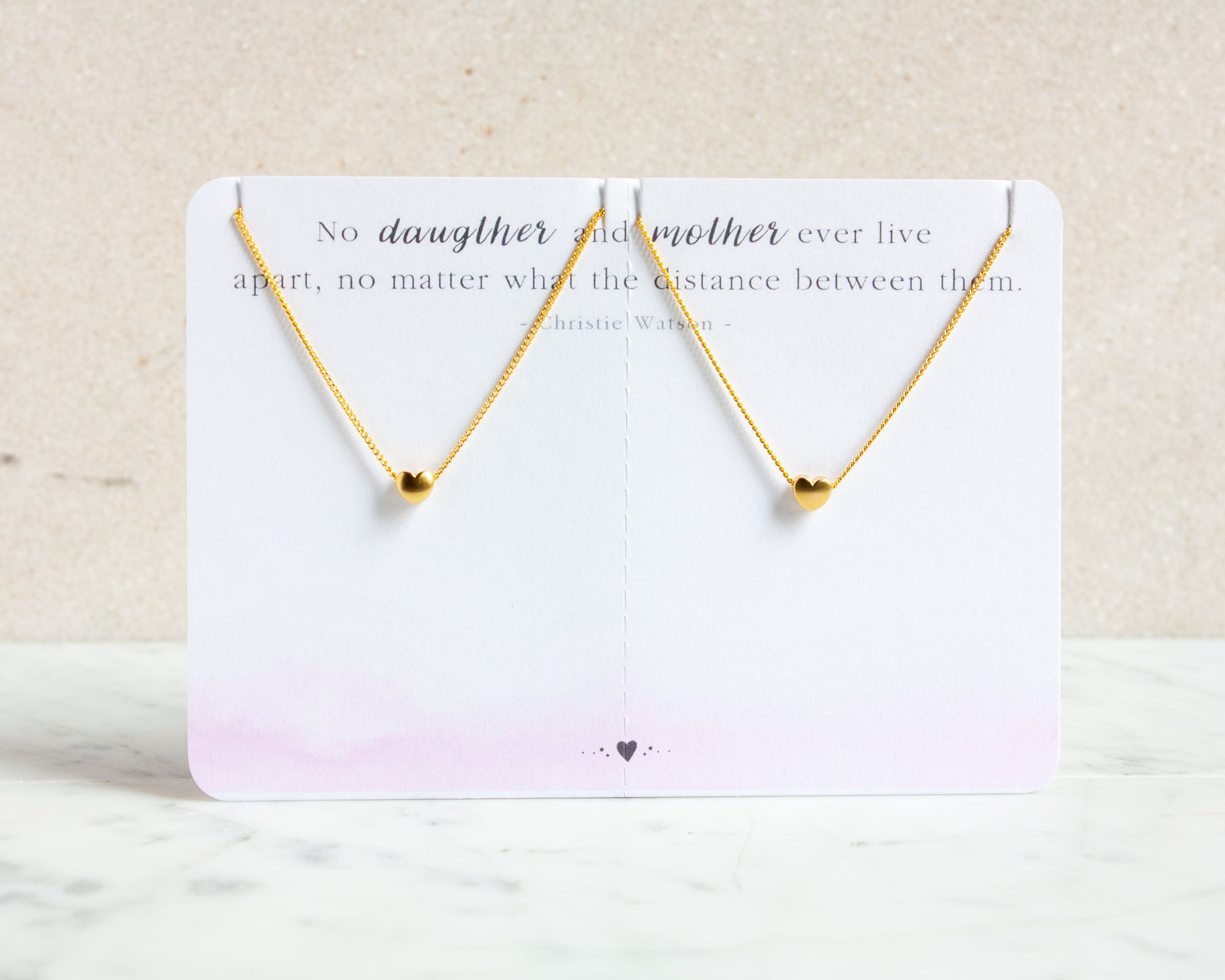 Heart Necklace Set for Mother & Daughter