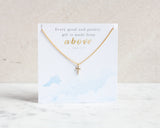 Dainty Cubic Zirkonia Cross Necklace - Gold or Silver