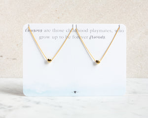 Cousin Necklace Set Hearts - Gold & Silver