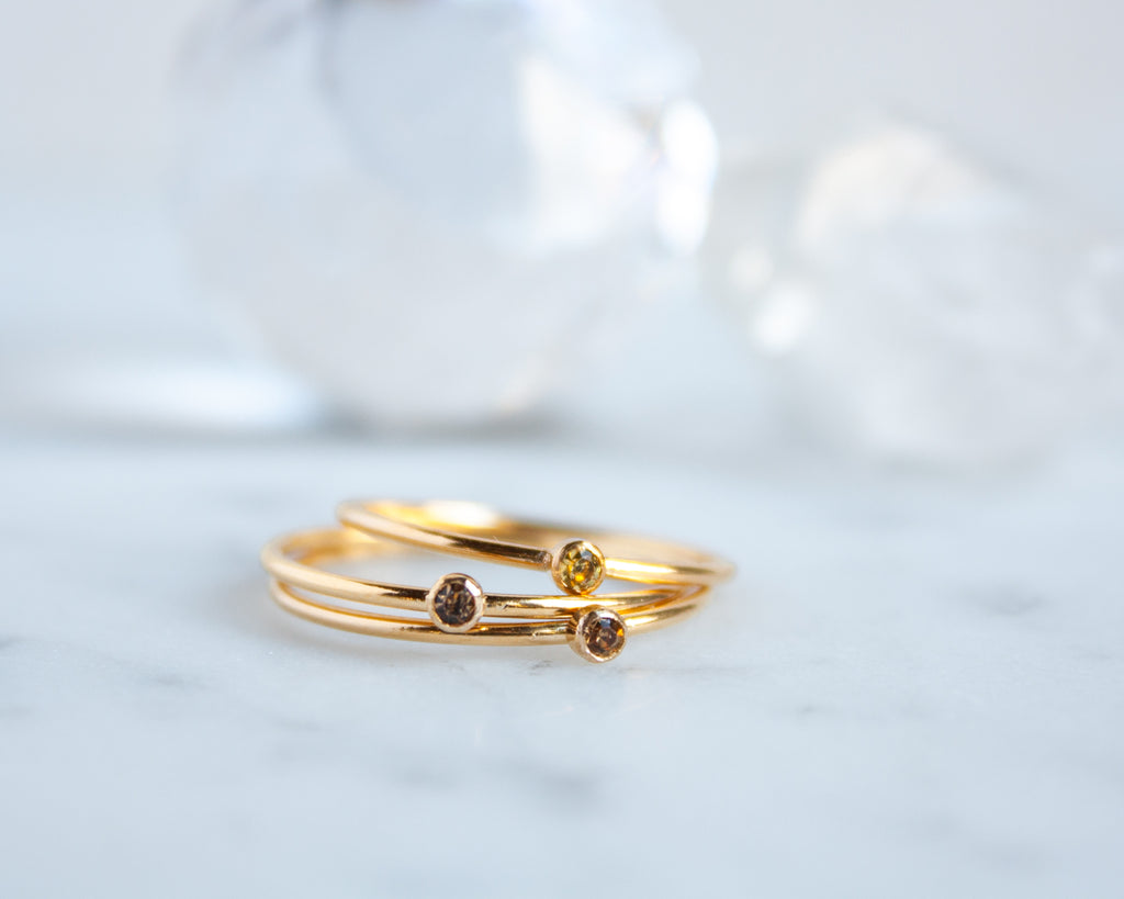 Citrine Ring, November Birthstone, Gold Filled or Sterling Silver Stacking Ring
