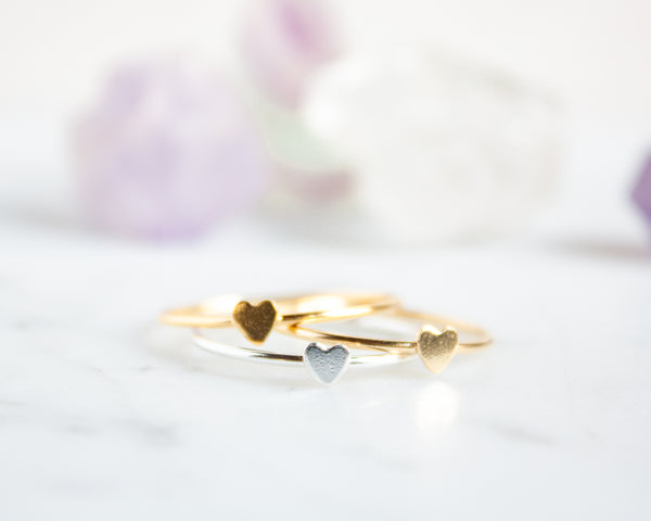Heart Ring, Gold Filled or Sterling Silver Stacking Ring