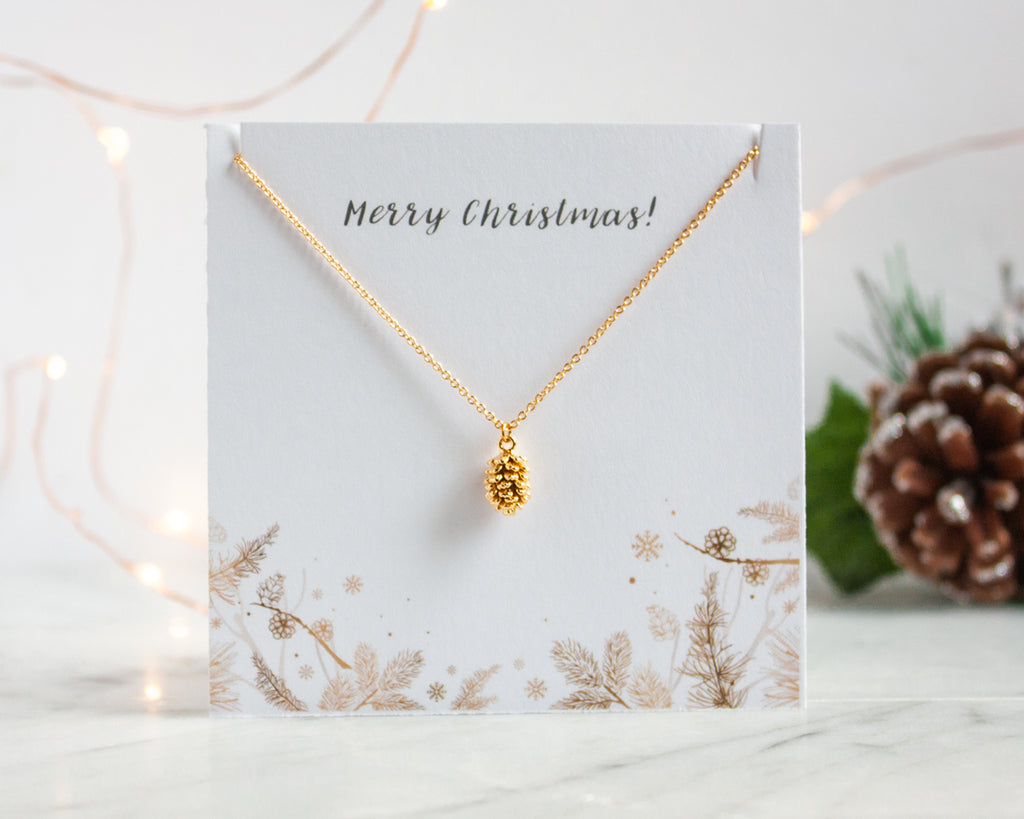 Pinecone Necklace Christmas Gift by MIandu