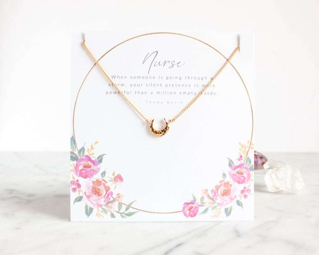 Nurse Necklace Gift - Crescent Moon
