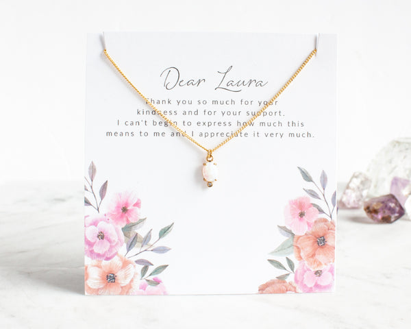 Create your own Custom Message Card for a Single Necklace