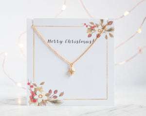 Christmas Necklace 'North Star' - Gold, Silver or Rose Gold