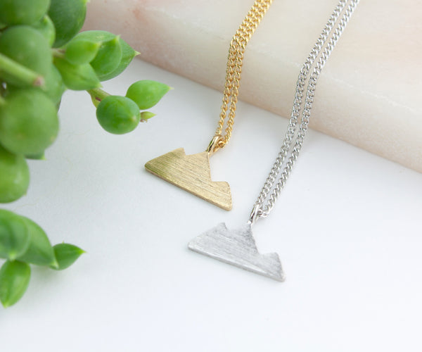 Mountain Necklace - Gold or Silver