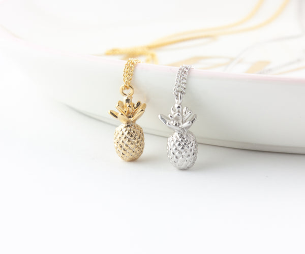 Pineapple Necklace - Gold, Silver or Rose Gold