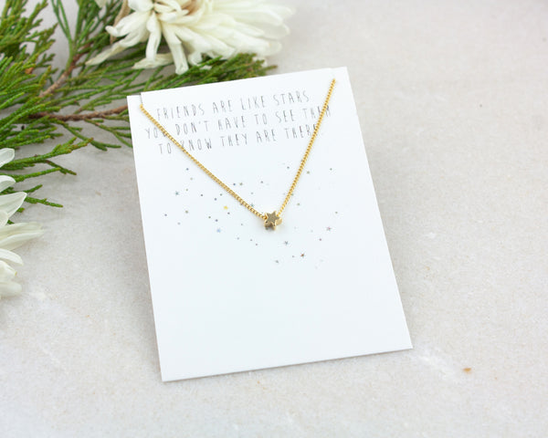 Star Necklace - Gold or Silver