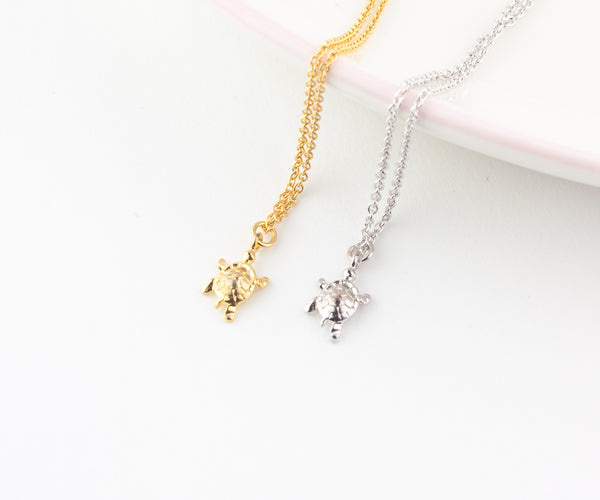 Turtle Necklace - Gold or Silver