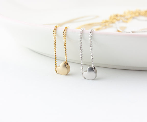 World Map Heart Necklace Set