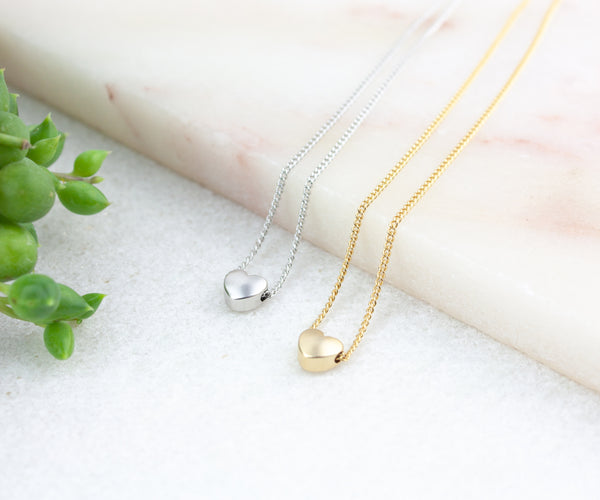 Heart Necklace Set for Friends - Gold & Silver