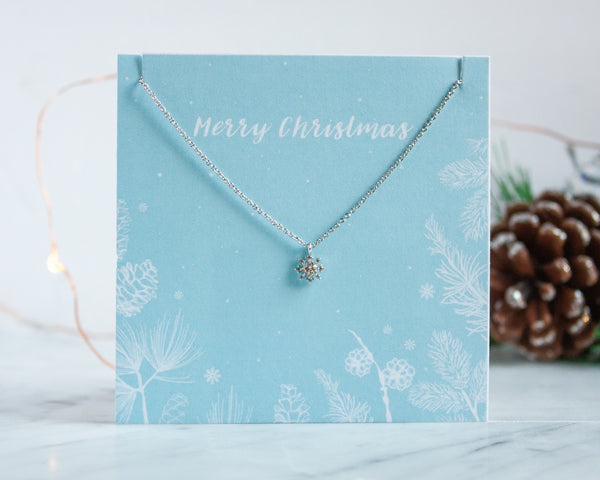 Cubic Zirconia Snowflake Necklace by Miandu