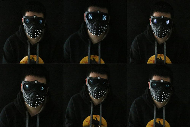 Wrench Inspired Mask! Customizable Led
