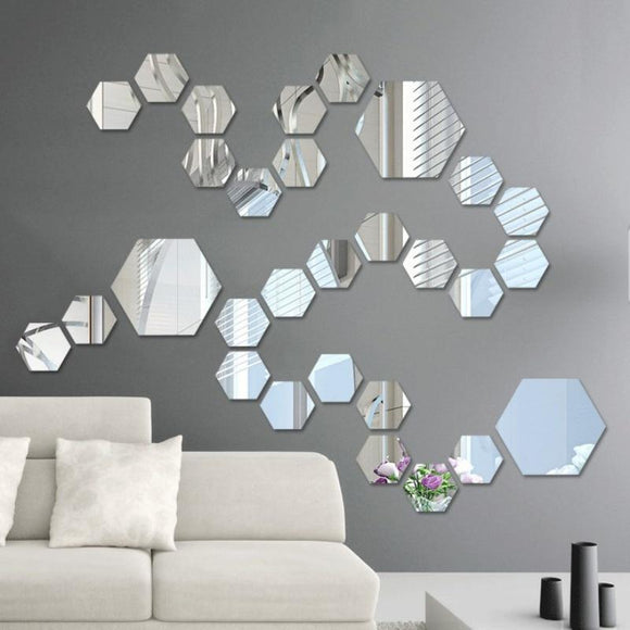 Self Adhesive Mirror (12 pcs)