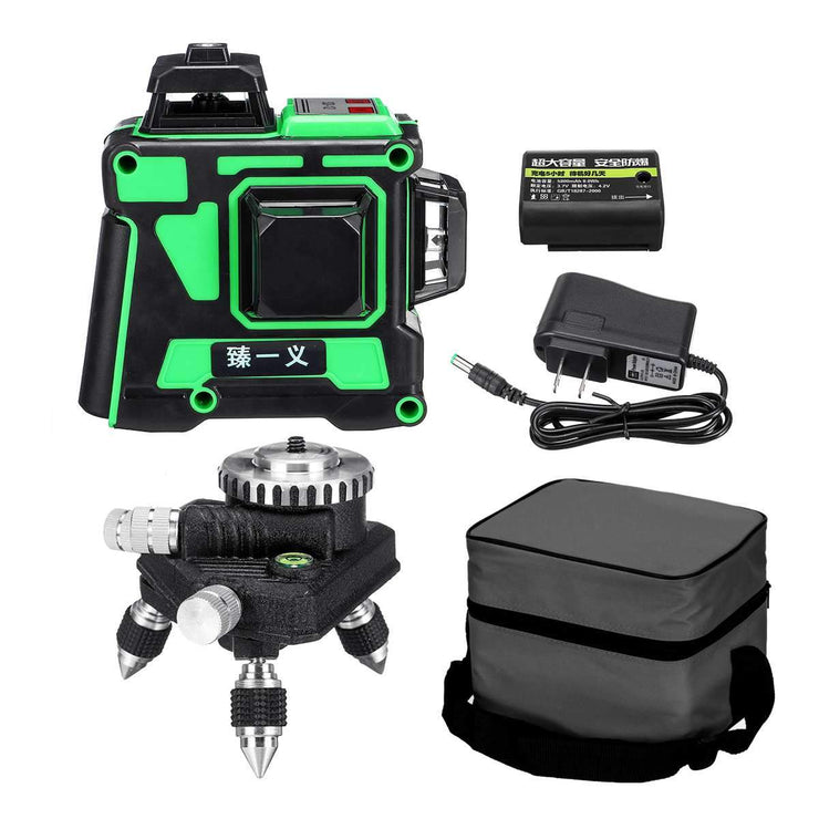 3D – 12 Lines Adjustable Green Laser Level (From US/EU)