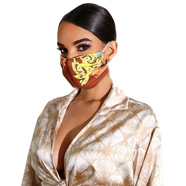 Print Breathable Mouth Mask