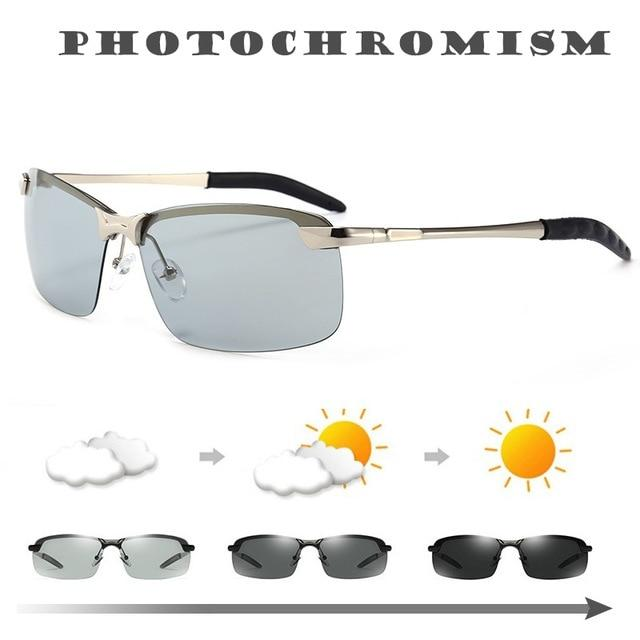 Smart Photochromic Polarized Sunglasses