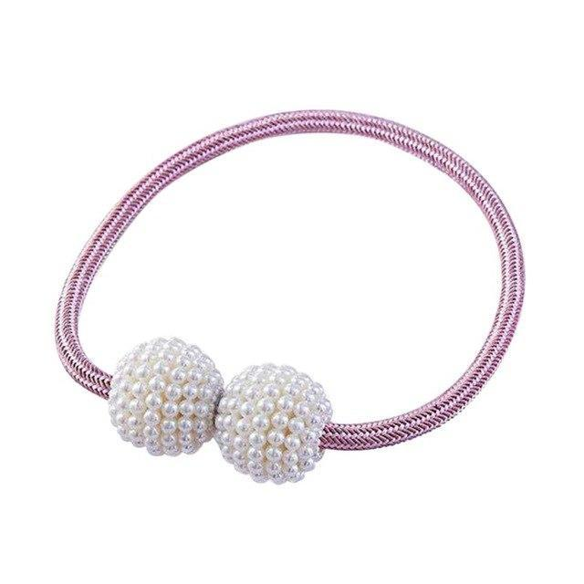 Magnetic Curtain Pearl Buckle (2 pcs)