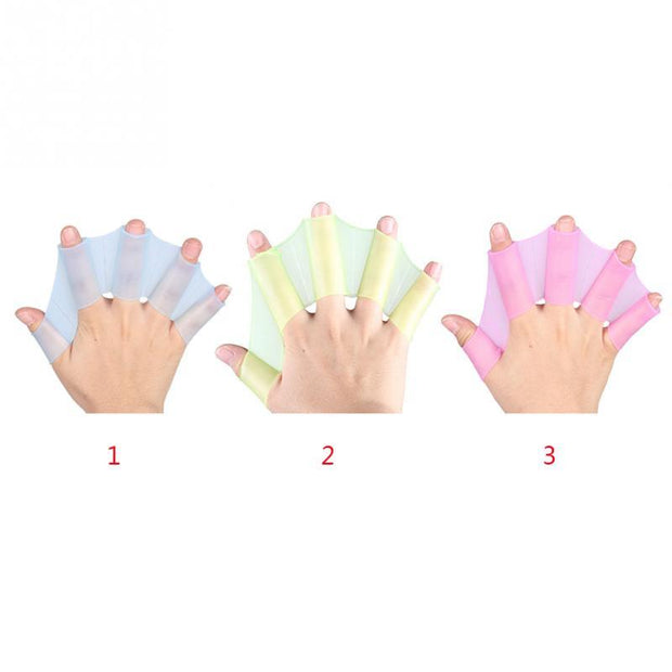 Frog Type Swimming Hand Flippers (Webbed Gloves)
