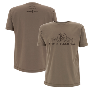 'Fish People' T-Shirt (Tan)