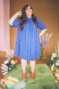 The Lovington Dress in Stripe