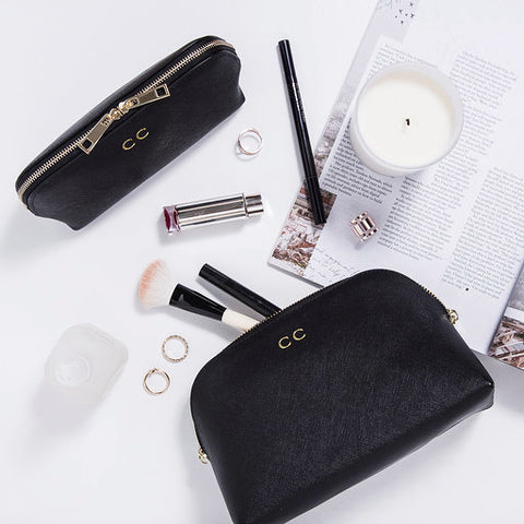 Make me up - personalised leather cosmetic bag