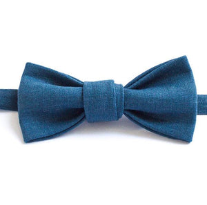 cadet blue bow tie handmade in Melbourne gift for fathers day