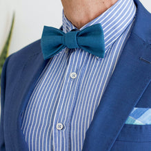 gift for him blue prettied bow tie