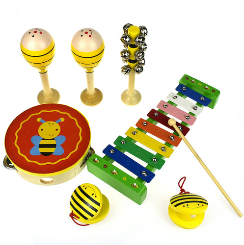 Bee music set for kids birthday 1st wooden instruments xylophone