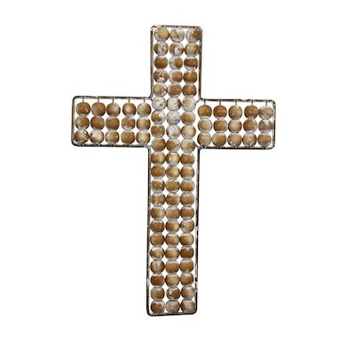 Decorative wall hanging beaded cross gift home decor