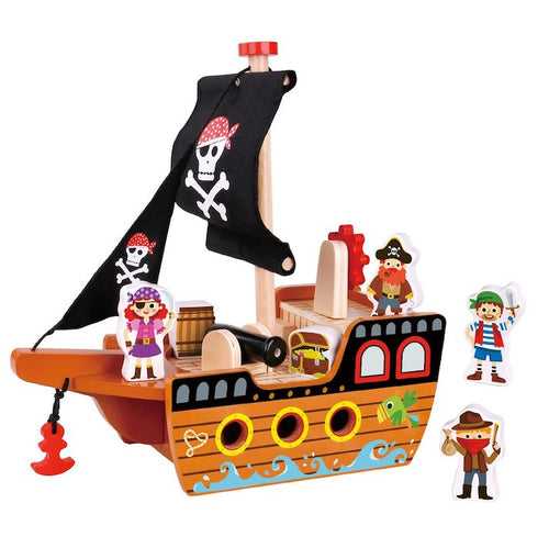 wooden pirate ship birthday gift for boys