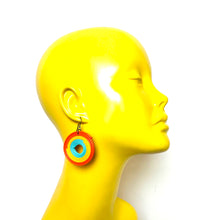 Load image into Gallery viewer, Frisky Frisbee Earrings