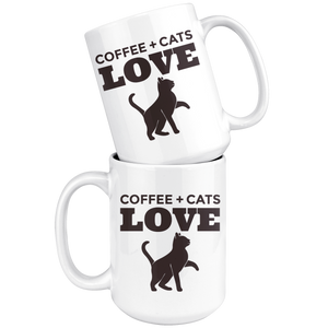 Coffee + Cats Love Mug