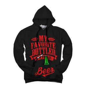 "Red ""Bottled Water Is Beer"" Beer Hoodie"