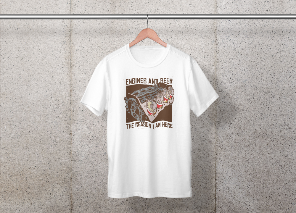Engines And Beer Tee