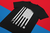 Barber USA Flag Tee