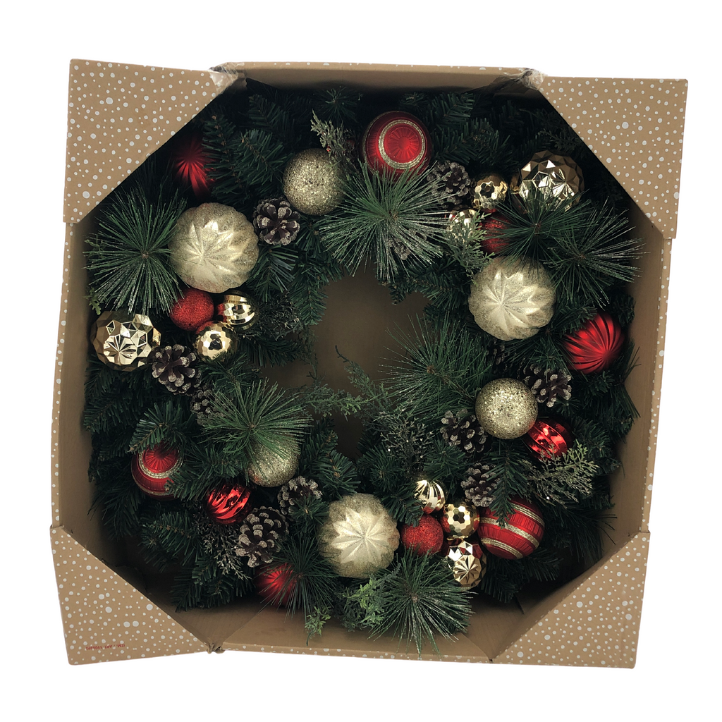CG Hunter Large Christmas ornaments decorated with pine cones and christmas  bulbs
