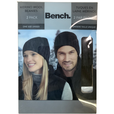 Bench Unisex Beanies: 2 Pack: Blue and Grey