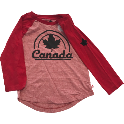 Canadiana Girl's Long Sleeve Shirt: Red | Various Sizes