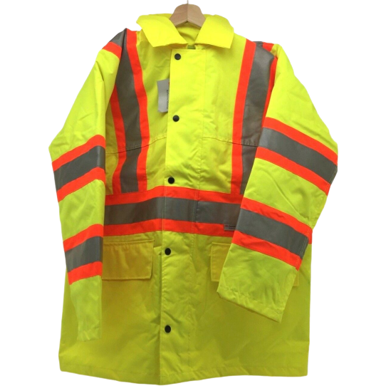 Condor Work Safety Jacket: Yellow | High Viz Long Traffic | Size 3XL