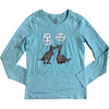 George Girl's Long Sleeve Shirt: Blue: Size XL