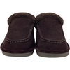 NukNuuk Men's Slippers: Leather / Dark Brown / Size 9