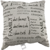 Family Themed Throw Pillow Couch Pillow